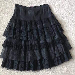 Rebecca Taylor black lace skirts